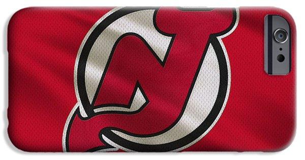 Devil iPhone Cases - New Jersey Devils Uniform iPhone Case by Joe Hamilton