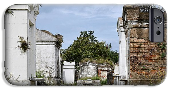 The Vault iPhone Cases - New Orleans Lafayette Cemetery iPhone Case by Christine Till