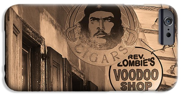 Voodoo Shop iPhone Cases - New Orleans Shops 3 iPhone Case by Frank Romeo
