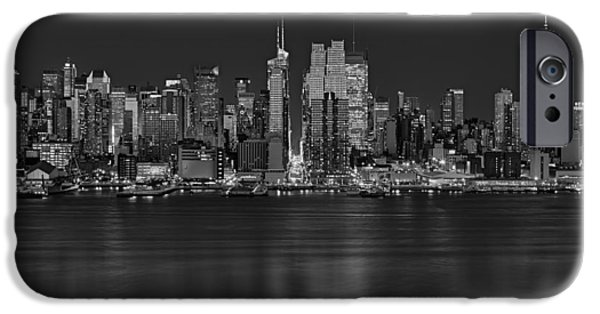 42nd Street iPhone Cases - New York City Comes Alives At Sundown iPhone Case by Susan Candelario