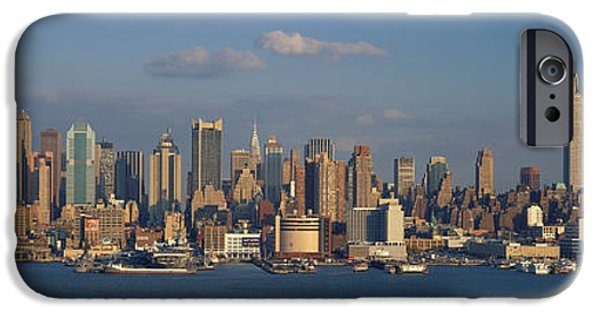 Hudson River iPhone Cases - New York City Ny iPhone Case by Panoramic Images