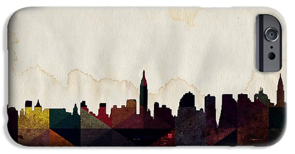 Brooklyn Bridge Mixed Media iPhone Cases - New York City Skyline iPhone Case by Celestial Images
