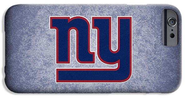 Giant iPhone Cases - New York Giants iPhone Case by Joe Hamilton