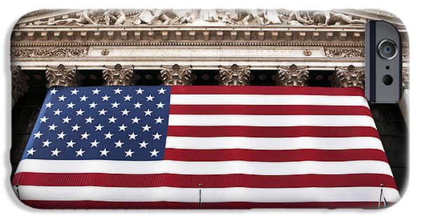 Old School Galleries iPhone Cases - New York Stock Exchange iPhone Case by John Rizzuto