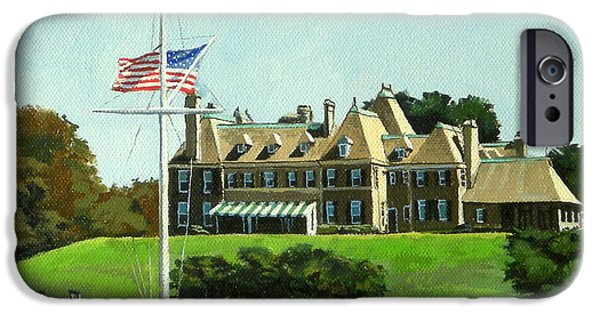 Best Sellers -  - Sand Castles iPhone Cases - New York Yacht Club Newport Rhode Island iPhone Case by Christine Hopkins