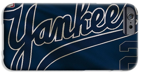 Baseball Field iPhone Cases - New York Yankees Derek Jeter iPhone Case by Joe Hamilton