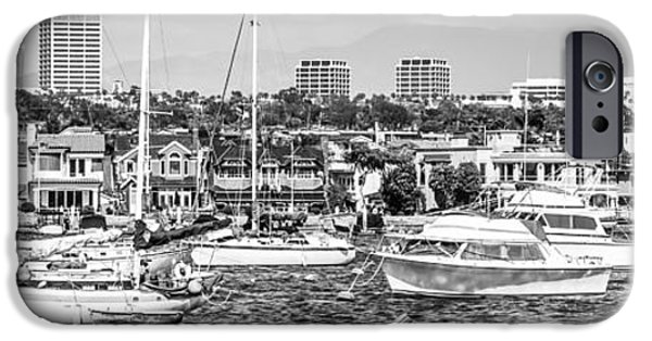 White House iPhone Cases - Newport Beach Skyline Panorama Photo iPhone Case by Paul Velgos