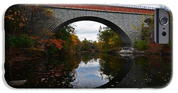 Charles River iPhone Cases - Newton Upper Falls Autumn Foliage iPhone Case by Toby McGuire
