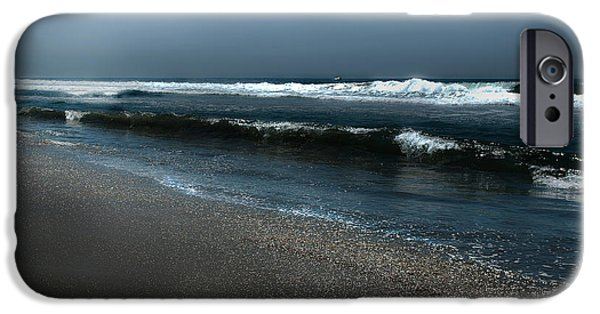Moonshine On The Beach iPhone Cases - Night Beach  iPhone Case by Artist and Photographer Laura Wrede
