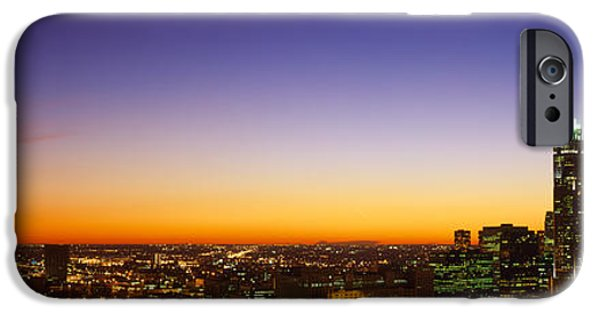 Sears Tower iPhone Cases - Night Chicago Il Usa iPhone Case by Panoramic Images
