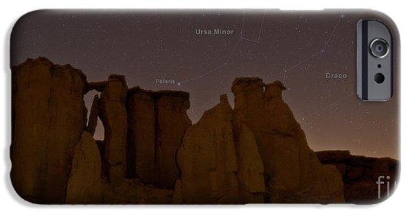 Ursa Minor iPhone Cases - Night Sky, Valley Of Stars, Qeshm iPhone Case by Babak Tafreshi