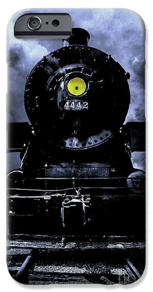 Railway Locomotive iPhone Cases - Night Train Essex Valley Railroad iPhone Case by Edward Fielding