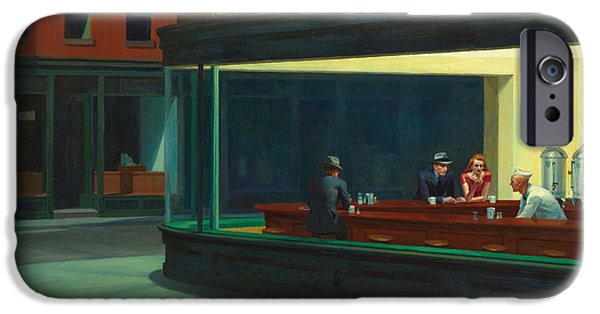 Eating iPhone Cases - Nighthawks iPhone Case by Edward Hopper
