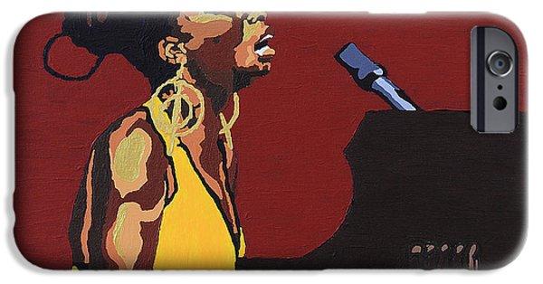 Piano iPhone Cases - Nina Simone iPhone Case by Rachel Natalie Rawlins