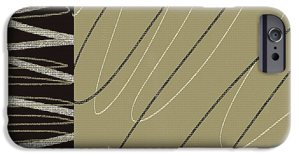 Beige Abstract iPhone Cases - No Ending iPhone Case by Lourry Legarde