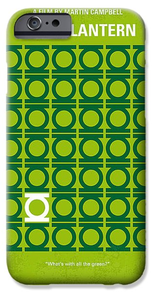Green iPhone Cases - No120 My GREEN LANTERN minimal movie poster iPhone Case by Chungkong Art