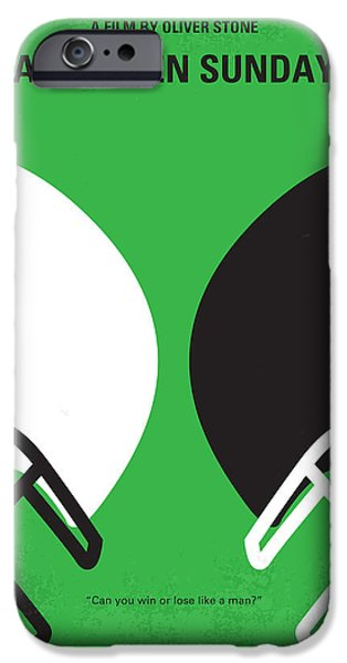 Quarterback iPhone Cases - No420 My ANY GIVEN SUNDAY minimal movie poster iPhone Case by Chungkong Art