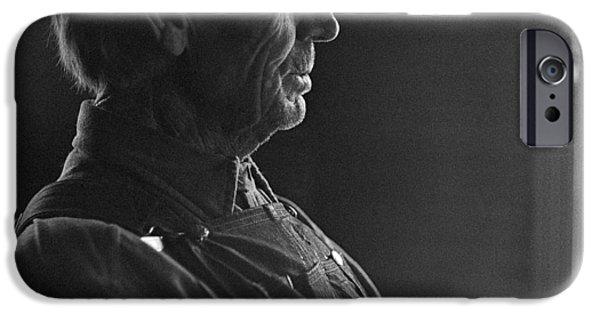 Senior Men iPhone Cases - North Dakota Pioneer Farmer - 1947 - Fine Art Print iPhone Case by Donald  Erickson
