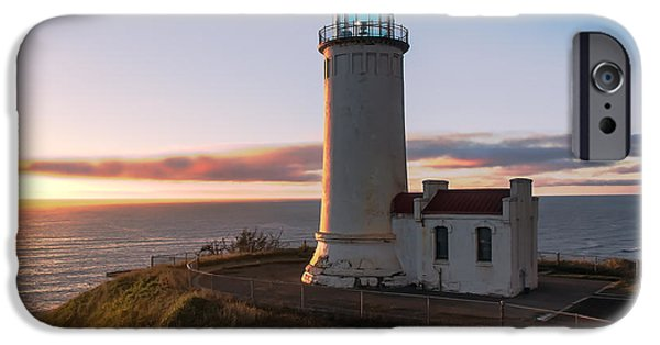 Cape Disappointment iPhone Cases - North Head Lighthouse  iPhone Case by Robert Bales