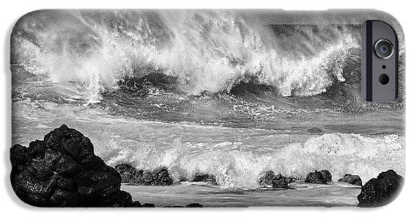Sea Watch iPhone Cases - North Shore Crash iPhone Case by Jamie Pham