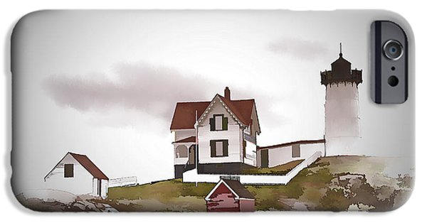 Cape Neddick Lighthouse Digital Art iPhone Cases - Nubble Light iPhone Case by Ray Summers Photography