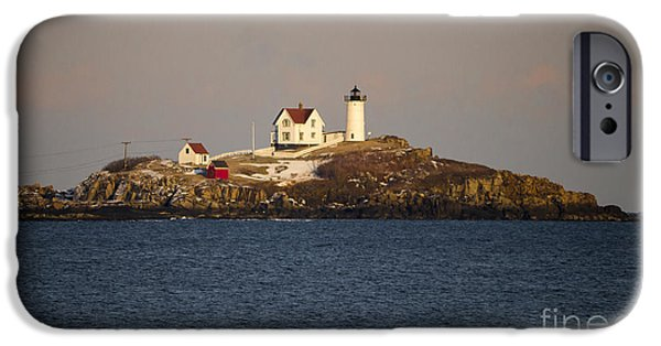 Nubble Lighthouse iPhone Cases - Nubble lighthouse iPhone Case by Steven Ralser