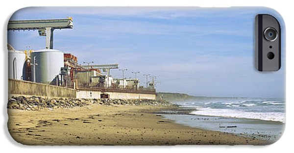 Power iPhone Cases - Nuclear Power Plant On The Beach, San iPhone Case by Panoramic Images