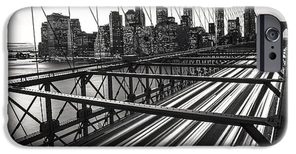 Fine Art Photo iPhone Cases - NYC Brooklyn View iPhone Case by Nina Papiorek