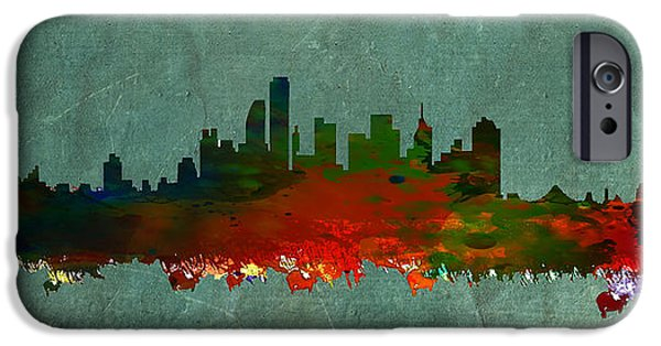 Nyc Mixed Media iPhone Cases - NYC Skyline iPhone Case by Celestial Images