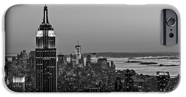 Exchange Place iPhone Cases - NYC Top Of The Rock iPhone Case by Susan Candelario