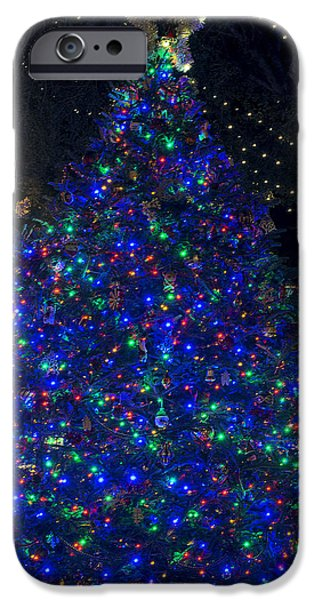 Christmas Holiday Scenery iPhone Cases - O Christmas Tree iPhone Case by Kenneth Albin