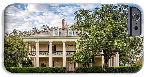 Oak Alley Plantation iPhone Cases - Oak Alley - Rear Entrance iPhone Case by Steve Harrington