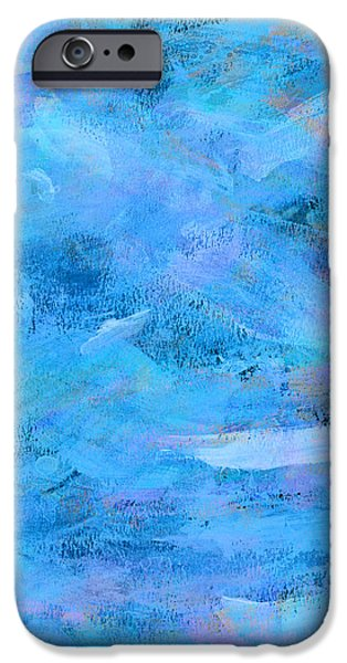 Abstract Expressionist iPhone Cases - Ocean Blue Abstract iPhone Case by Frank Tschakert