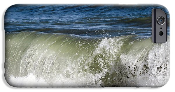 Summer iPhone Cases - Ocean wave iPhone Case by Zina Stromberg