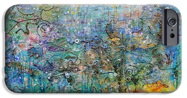 Plankton Paintings iPhone Cases - Oceanic iPhone Case by Regina Valluzzi