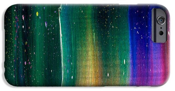Intergalactic Space Paintings iPhone Cases - Odyssey Texture iPhone Case by Chad Mars