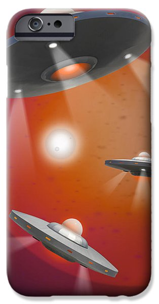 Surrealism Digital Art iPhone Cases - Oh - I Believe 5 iPhone Case by Mike McGlothlen