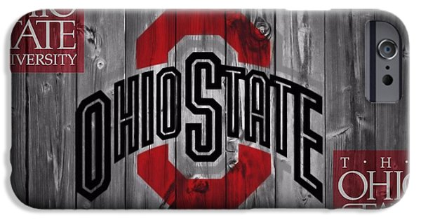 Barns Mixed Media iPhone Cases - Ohio State Buckeyes iPhone Case by Dan Sproul