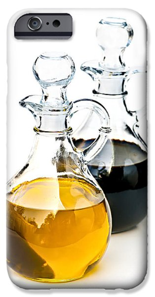 Pitcher iPhone Cases - Oil and vinegar iPhone Case by Elena Elisseeva