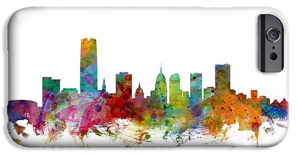 Recently Sold -  - United iPhone Cases - Oklahoma City Skyline iPhone Case by Michael Tompsett