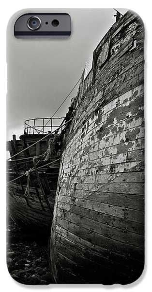 Old abandoned ships iPhone Case by RicardMN Photography