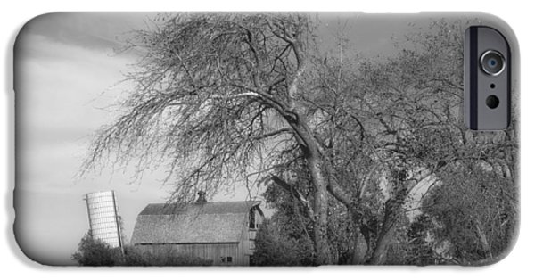 Illinois Barns iPhone Cases - Old Barn and Leaning Silo iPhone Case by Mountain Dreams
