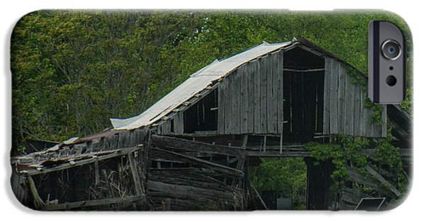 Natchez Trace Parkway iPhone Cases - Old Barn iPhone Case by Pamela Schreckengost