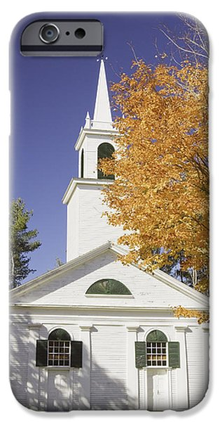 Fall iPhone Cases - Old Country Church In Fall iPhone Case by Keith Webber Jr