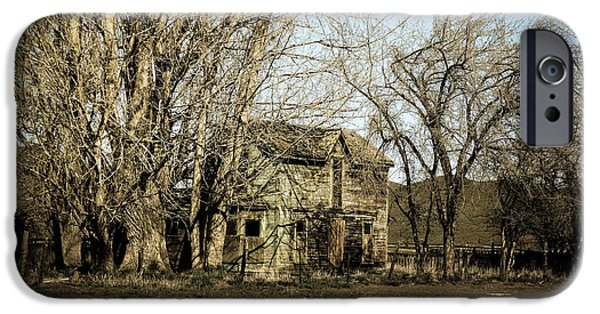 Toning iPhone Cases - Old Farm House iPhone Case by Robert Bales