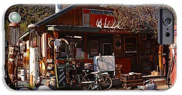 New Generations iPhone Cases - Old Frontier Gas Station, Embudo, New iPhone Case by Panoramic Images
