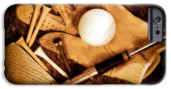 Sports iPhone Cases - Old Golf Gear iPhone Case by Charline Xia