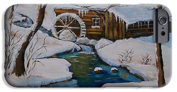 Grist Mill iPhone Cases - Old Grist Mill  iPhone Case by Sharon Duguay
