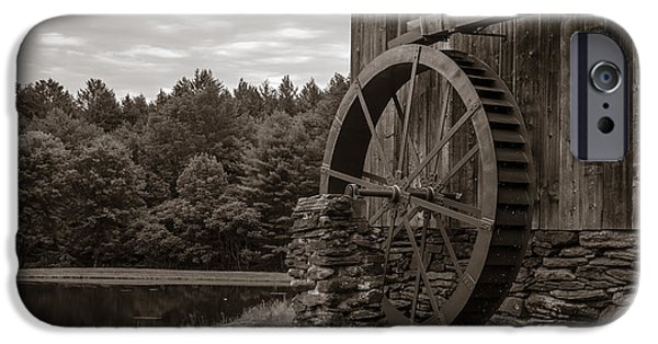 Grist Mill iPhone Cases - Old Grist Mill Vermont iPhone Case by Edward Fielding