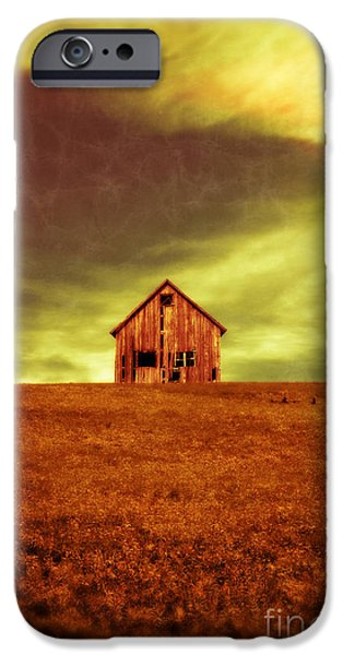 Haunted House iPhone Cases - Old House on the hill iPhone Case by Edward Fielding